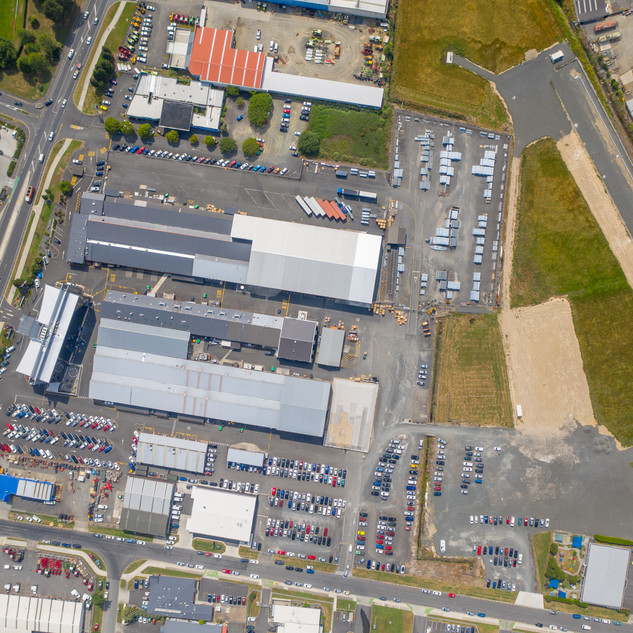 Commercial Property Top Down Aerial Photography