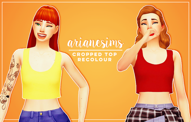 recolour: cropped top