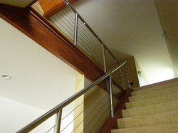 Custom Stainless and Cable Handrail