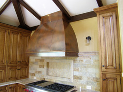 Aged Copper Double Convex Hood