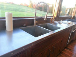Stainless Top with Integrated Sink