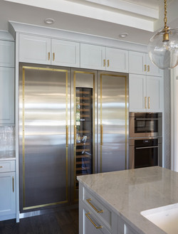 Refrigerator Panels with Aged Brass