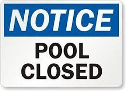 School pool closed this weekend, February 27 and 28th
