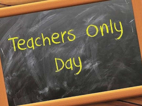 Teacher Only day - Friday 27th August 2021.