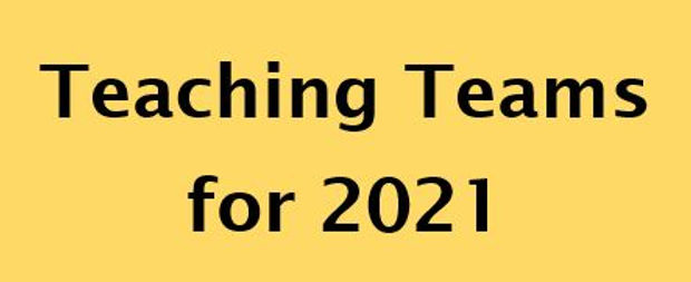 Teaching Teams for 2021