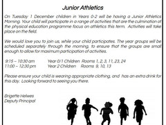 Junior School Athletics Morning