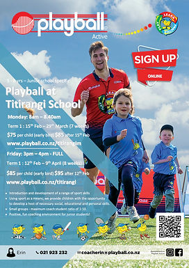 Playball at Titirangi School