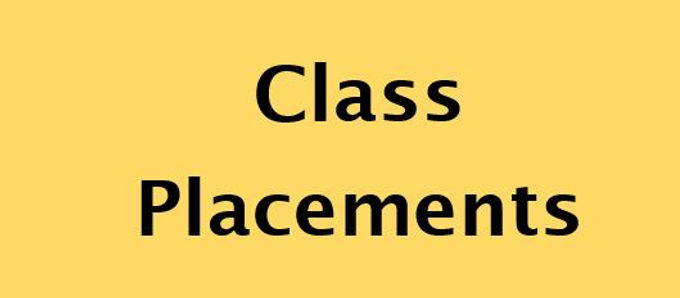 Class Placement for 2021