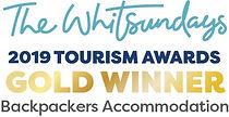 TW Awards Logo.Gold winner. Backpackers