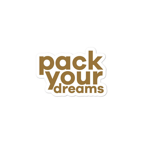 Pack Your Dreams Sticker