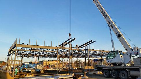 Edmonton crane company lifting steel