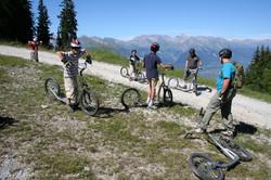 Adventure in the summer in swiss alps