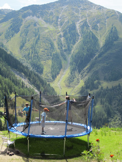 Swiss Alps, Prarion, trampoline in the mountains, Nendaz