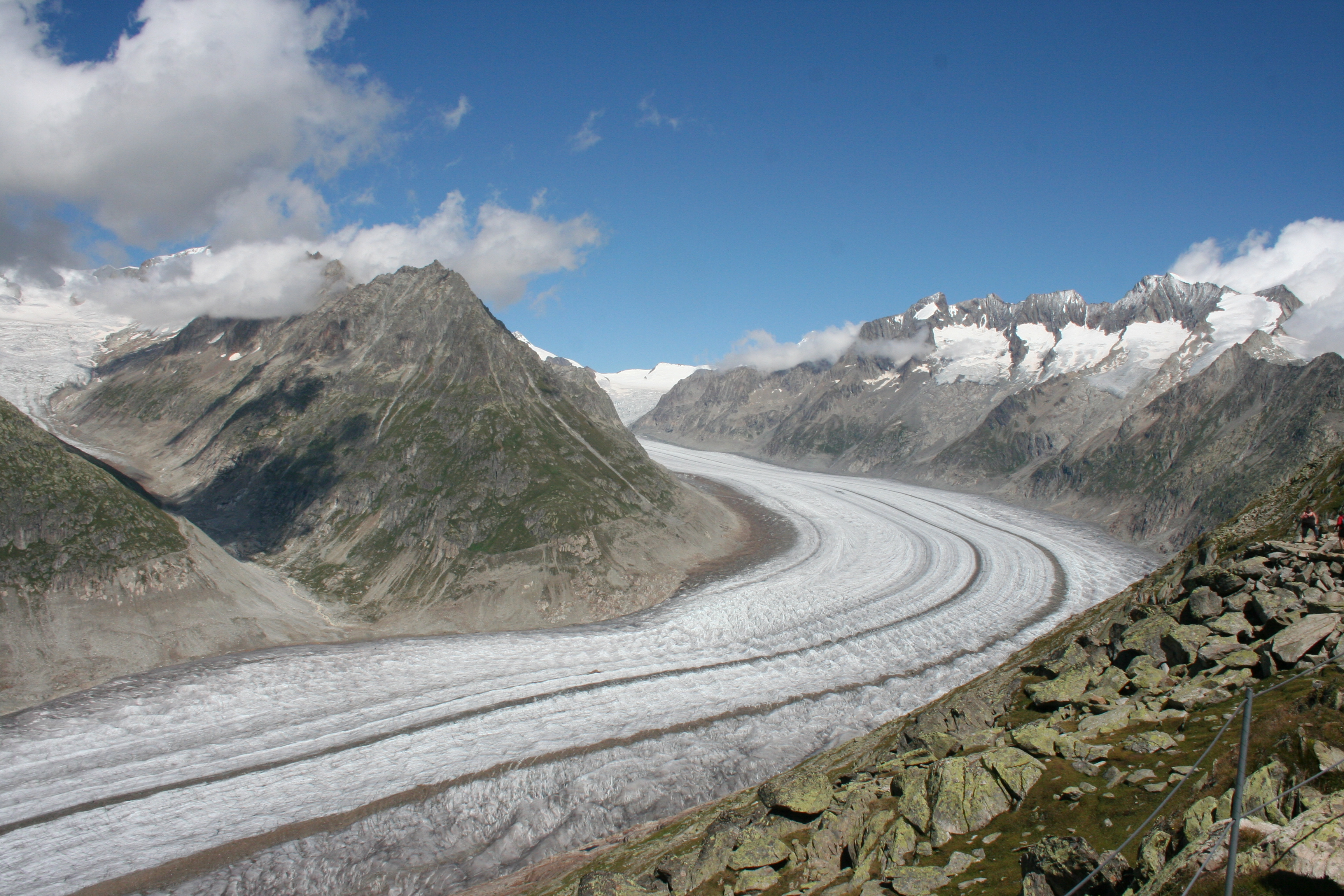 Aletsch Glacier eastern bernese alps