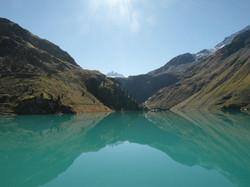 Lake in Nendaz dam, 4 valleys