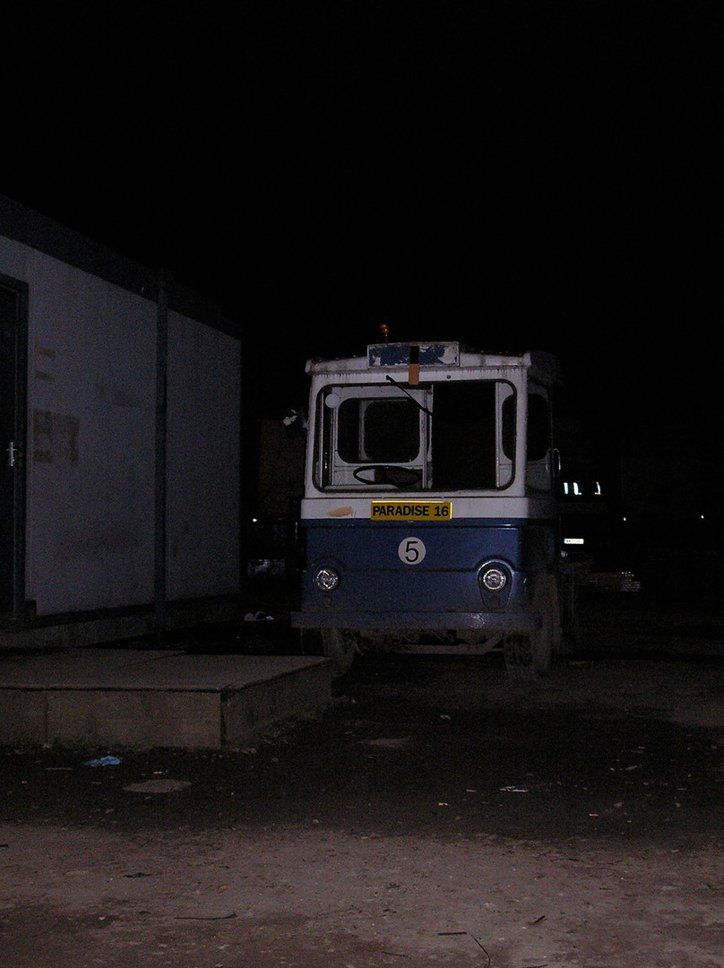 Prometheus film set, milk floats!