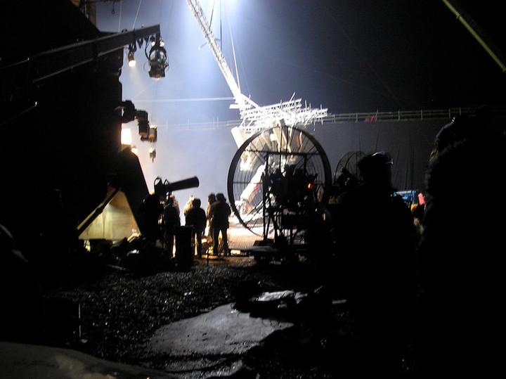Filming Prometheus landing scene.