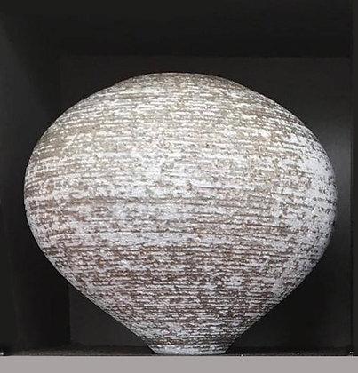 Chalk glaze atom sudio pot by Rob Sollis