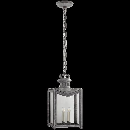 Mills Large Hanging Lantern in Garden Zinc with Restoration Glass