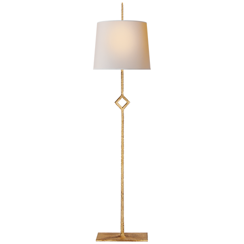 Cranston Buffet Lamp in Gilded Iron with Natural Paper Shade