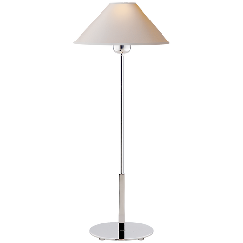 Hackney Table Lamp in Polished Nickel with Natural Paper Shade