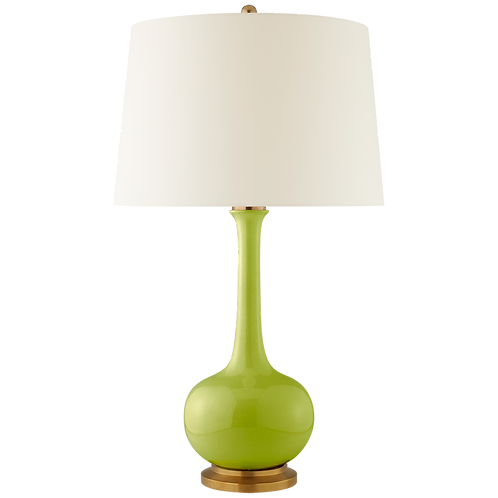 Coy Large Table Lamp in Lime with Natural Percale Shade