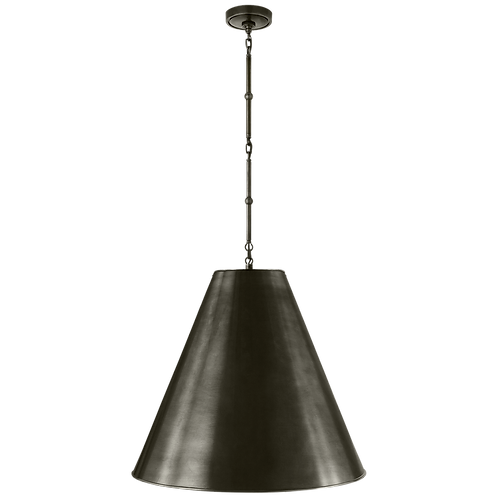 Goodman Large Hanging Lamp in Bronze with Bronze Shade