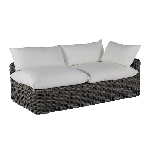 Montecito Woven Right Arm Facing Loveseat  - Slate Grey