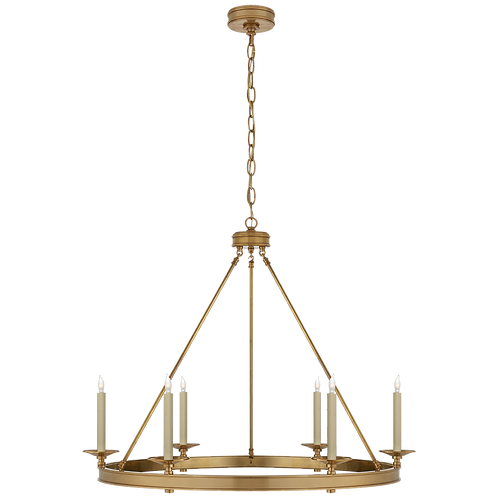 Launceton Ring Chandelier in Antique-Burnished Brass