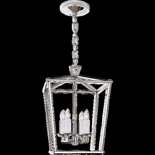 Darlana Small Lantern in Polished Nickel