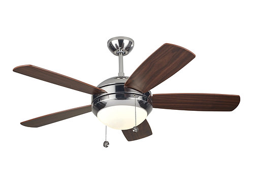 "44"" Discus II Fan - Polished Nickel"