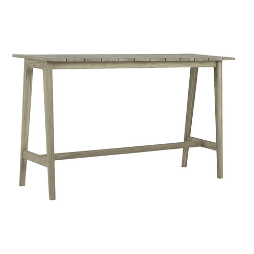 Coast Teak Bar Table - Oyster