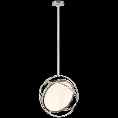 """Orbit 16"""" Swiveling Pendant in Polished Nickel"""