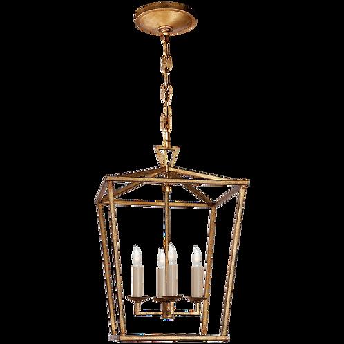 Darlana Small Lantern in Gilded Iron