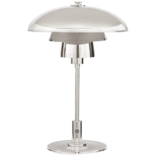 Whitman Desk Lamp in Polished Nickel with Polished Nickel Shade
