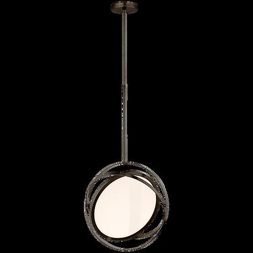 "Orbit 16"" Swiveling Pendant in Bronze"