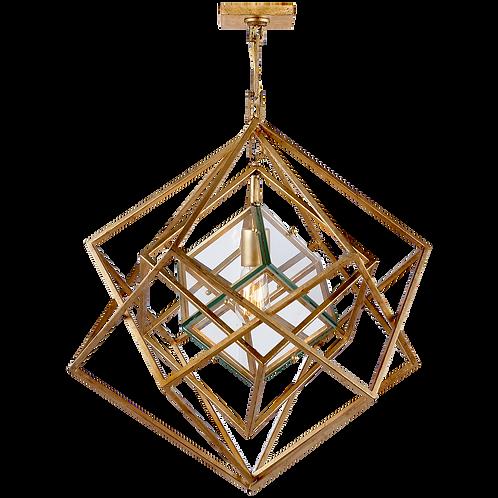 Cubist Small Chandelier in Gild