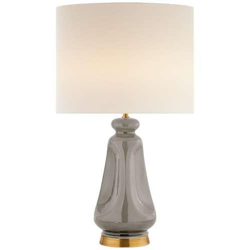 Kapila Table Lamp in Shellish Gray with Linen Shade