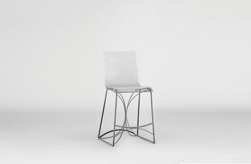 Angela 24.75 Counter Height Stool - Silver