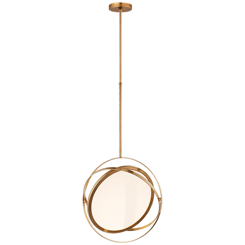"Orbit 16"" Swiveling Pendant in Natural Brass"