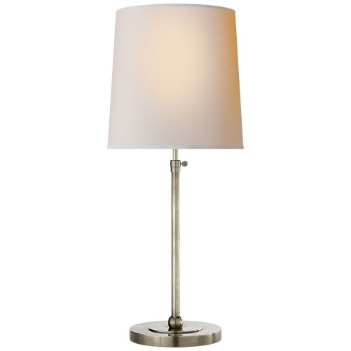 Bryant Large Table Lamp in Antique Nickel with Natural Paper Shade