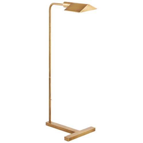 William Pharmacy Floor Lamp in Hand- Rubbed Antique Brass
