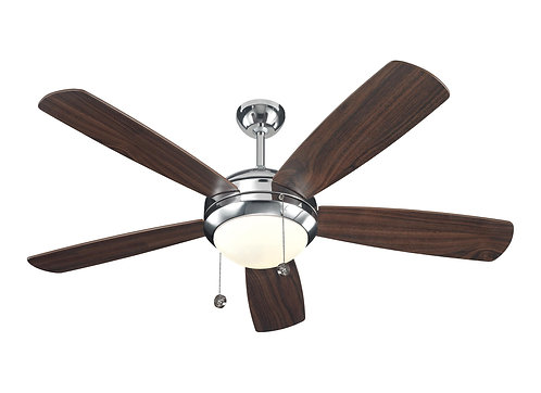 """52"""" Discus Fan - Polished Nickel"""