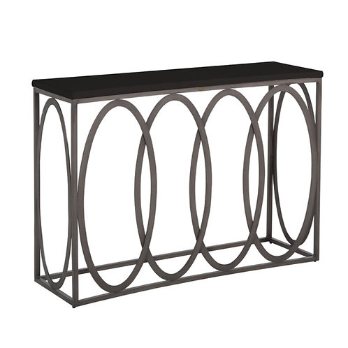 Ella Console Table - Charcoal/Black Walnut