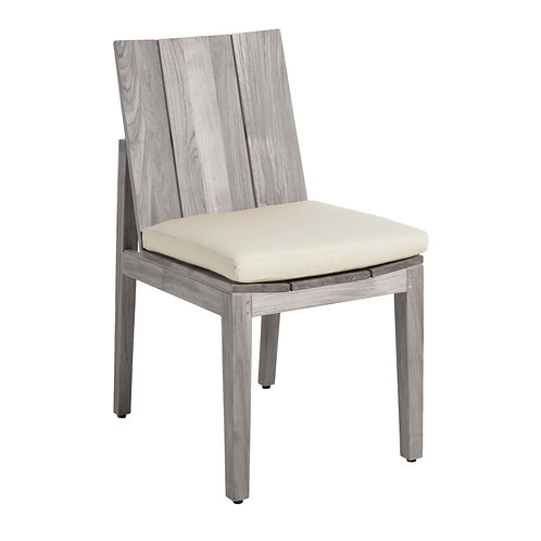 Ashland Teak Side Chair - Oyster