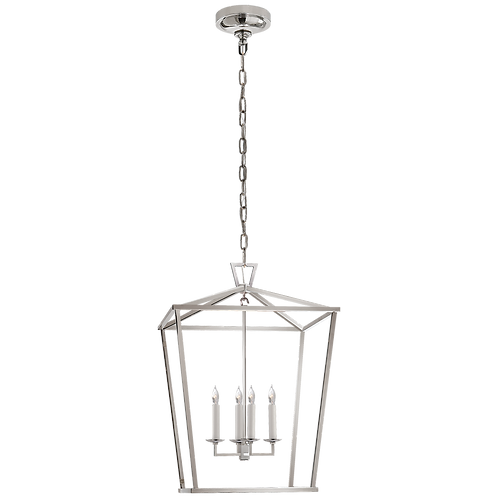 Darlana Medium Lantern in Polished Nickel