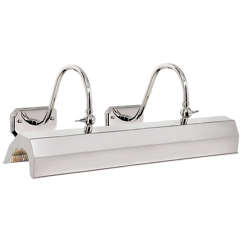 Willoughby Large Picture Light in Polished Nickel