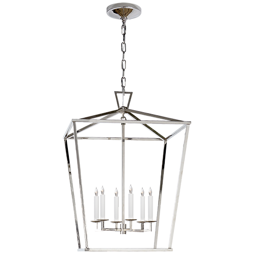 Darlana Large Lantern in Polished Nickel