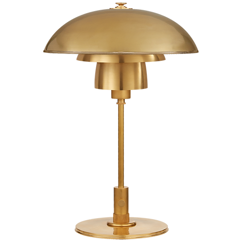 Whitman Desk Lamp in Hand-Rubbed Antique Brass with Hand-Rubbed Antique