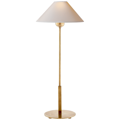 Hackney Table Lamp in Hand-Rubbed Antique Brass with Natural Paper Shade